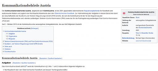 Klicken Sie auf die Grafik für eine größere Ansicht  Name:Kommunikationsbehörde Austria Wiki.PNG Hits:15 Größe:63,0 KB ID:5897
